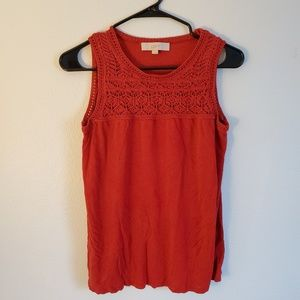 Red Crochet Front Tank